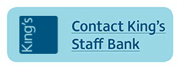 Contact King's College NHS Staff Bank