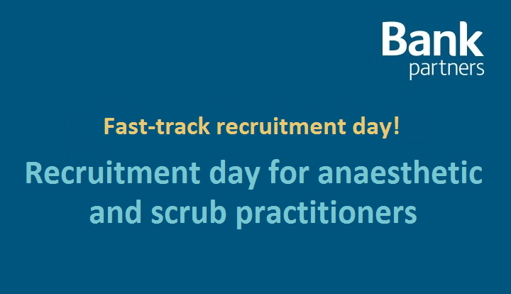 Recruitment day for anaesthetic practitioners and scrub practitioners