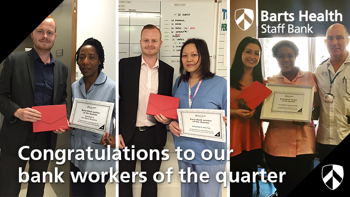 Congratulations to our Bank Worker Award Winners